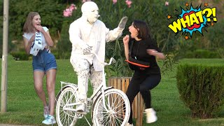 BEST Human Statue Prank 2021   Best of Just For Laughs - AWESOME REACTIONS