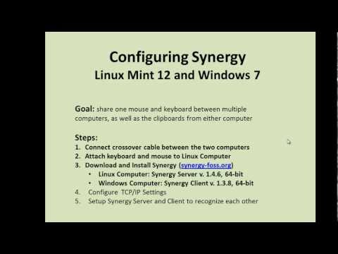 Configuring Synergy with a Crossover Cable