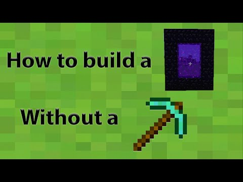Minecraft tips #1: How to build nether portal without diamond pickaxe