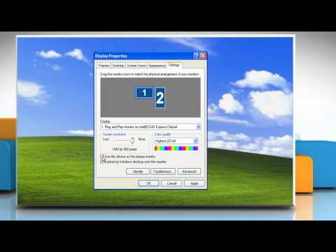 Windows® XP:  How to Disable Dual Monitor setup