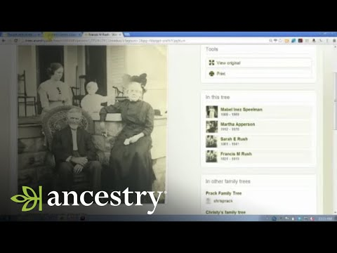 Ancestry.com Online Family Trees:  Photo Comments and Other Collaboration Tools