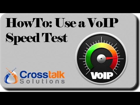 HowTo:  Use a VoIP Speed Test