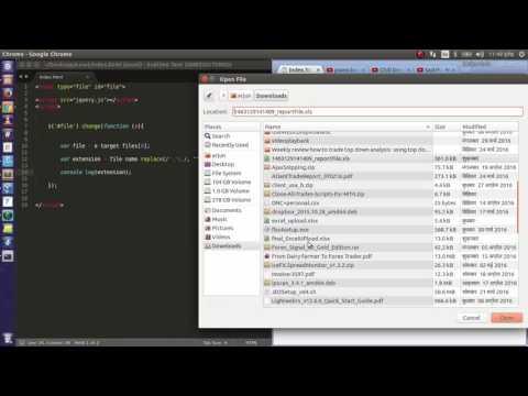 javascript -  input file excel file validation, extension, regex