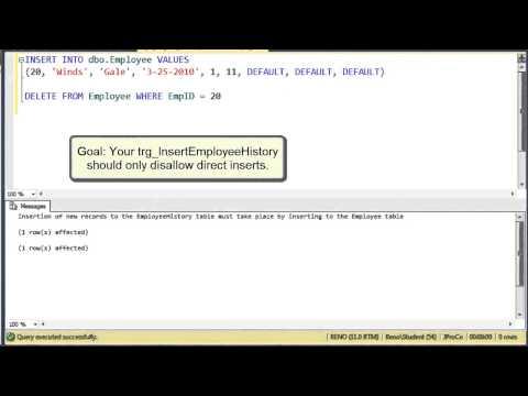 SQL 2012 Nested Triggers Using Trigger_Nestlevel Lab 3.2
