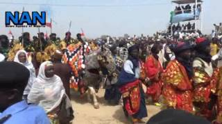 The dancing horse  at mini Durbar for  Sultan Sa'ad Abubakar