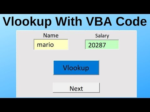 Vlookup With VBA in Excel