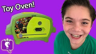 TMNT Oven Cooking Toy Review with HobbyKids!