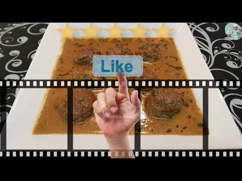 Gushtaba (Kashmiri Dish)  گشتابہ کشمیری ڈش | Eid special | Cook With Saima