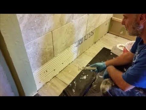 Install Large porcelain tiles on wall - For Beginner - Part 3 - Bottom Row