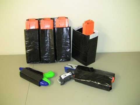[TUTORIAL] How to Make Duct Tape Nerf Pouches - Guide