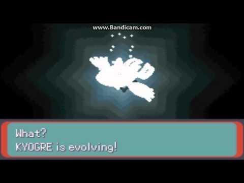 Pokemon Emerald Kyogre Evolves