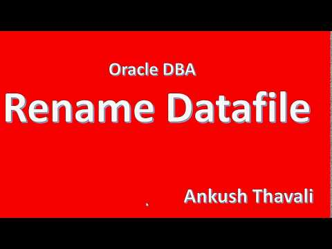 How to Rename datafile in Oracle