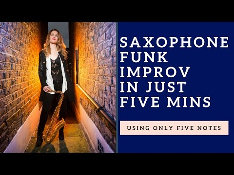 Learn to improvise in 5 minutes using just 5 notes + how to play over funk 🎶 tutorial