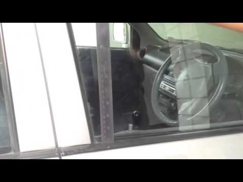Unlock a car with a steel scale in 10 secs!!!!MOST USEFUL VIDEO FOR THEIVES ON YOUTUBE!!!