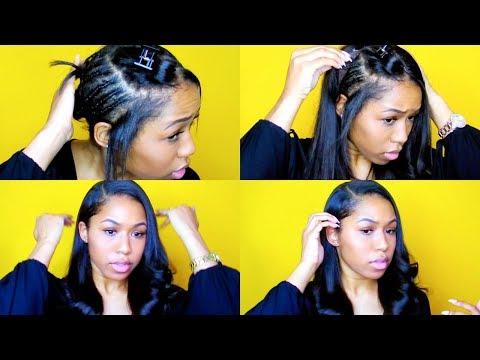 2 Minute U-Part Wig Install (No Sewing!)
