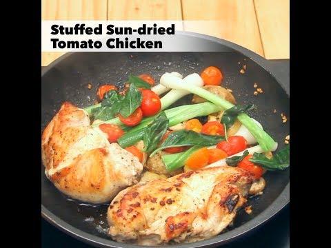 Stuffed Sun dried Tomato Chicken