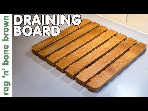 Making A Wooden Draining Board Using Beech