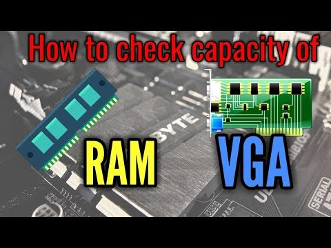 How to check RAM capacity & VGA capacity of your laptop