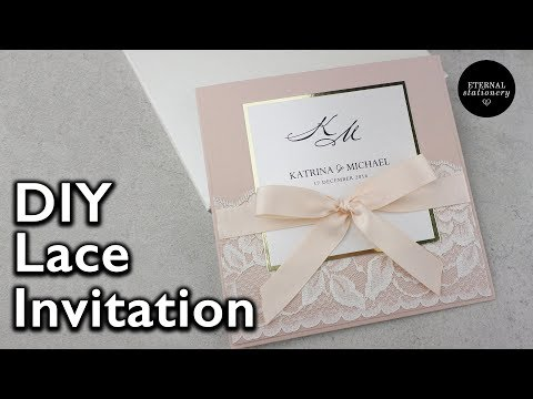 Elegant Lace Invitation | DIY Wedding Invitations - Eternal Stationery