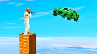 DANGEROUS SUPERCARS vs. SNIPER TOWER! (GTA 5 Minigames)