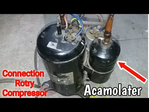 Rotary compressor connection with capacitor | and Vacuum pump make