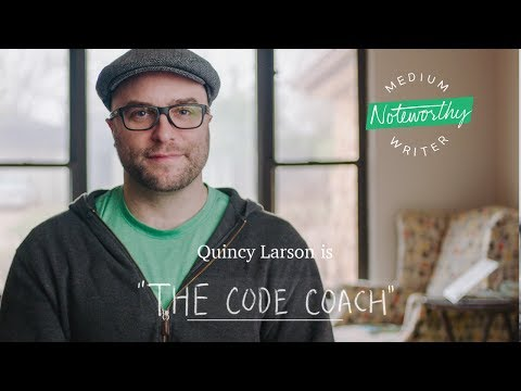 """Quincy Larson is """"The Code Coach""""   Noteworthy by Medium"""