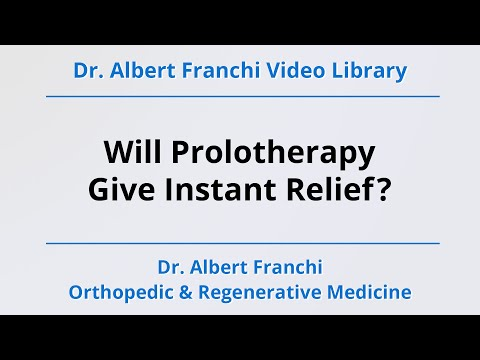 Will Prolotherapy Give Instant Relief