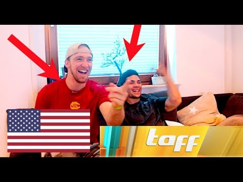 AMERICANS REACT to GERMAN TV SHOW - PROSIEBEN TAFF!