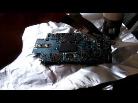 iPhone 3GS PCB Heatgun Depopulate
