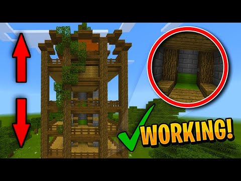 FAST/SMOOTH WORKING ELEVATOR IN MINECRAFT! (PE WIN10 XBOX)