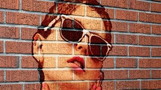 Photoshop Tutorial How To Transform A Photo Into A Brick Wall Portrait