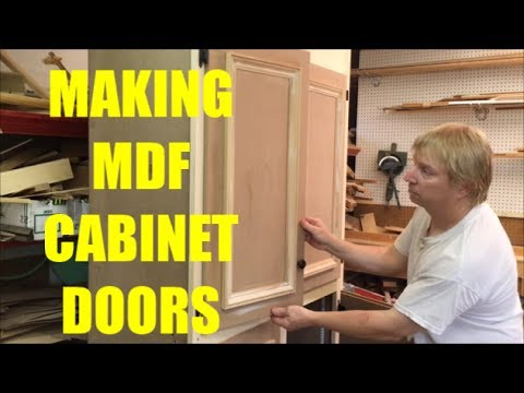 MAKING MDF CABINET  DOORS / WOODWORKING