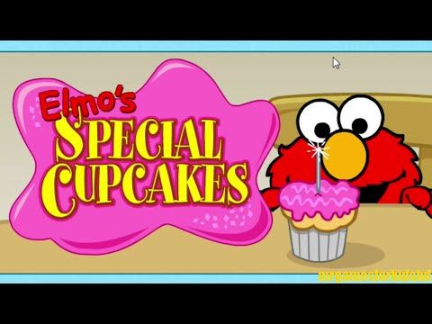 Sesame Street Elmo's Special Cupcakes With Mommy Online Kids Game