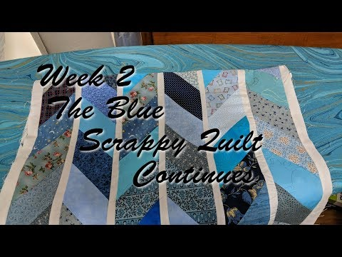 Week 2 The Blue Scrappy Quilt Continues