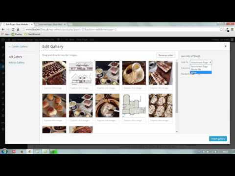 How to create an image gallery in a Wordpress page or post