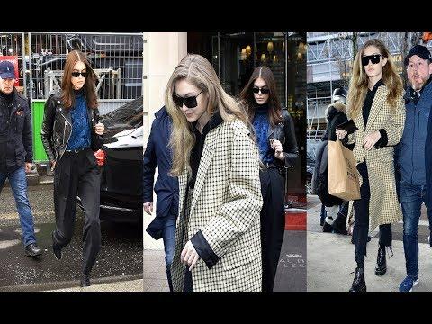 Gigi Hadid & model gal pal Kaia Gerber on a shopping trip in Paris