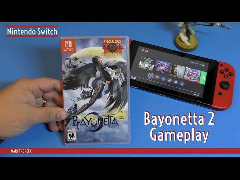 Nintendo Switch Bayonetta 2 Unboxed & Gameplay