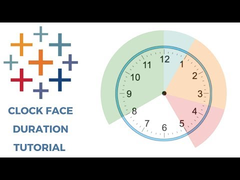 TABLEAU CLOCK FACE DURATION CHART TUTORIAL