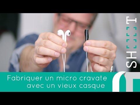 Fabriquer un micro cravate avec de vieux écouteurs | comment faire des vidéos | nowtechTV SHOOT