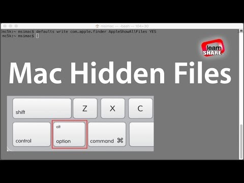 How to Show Hidden files on MacOS