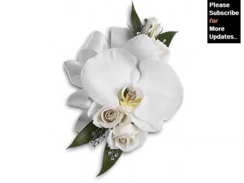 White Orchids Corsage Picture Ideas For Wedding Romance