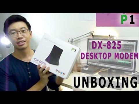 P1 DX-825 4G Desktop Modem Unboxing