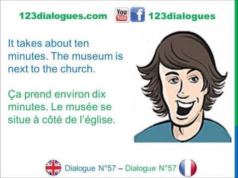 Dialogue 57 - English French Anglais Français - Ask for directions - Demander son chemin