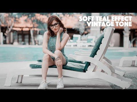 SOFT VINTAGE TEAL COLOR EFFECT | PHOTOSHOP TUTORIAL
