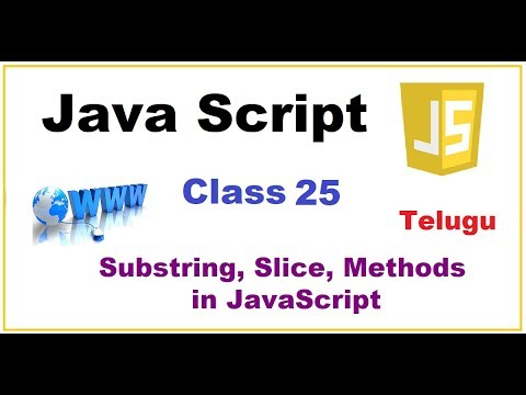 Search, Substring, Slice Methods Javascript   --    Telugu 24-vlr training
