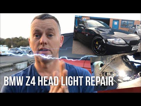 BMW Z4 Head Light Bulb Change (& Side Light Bulb)