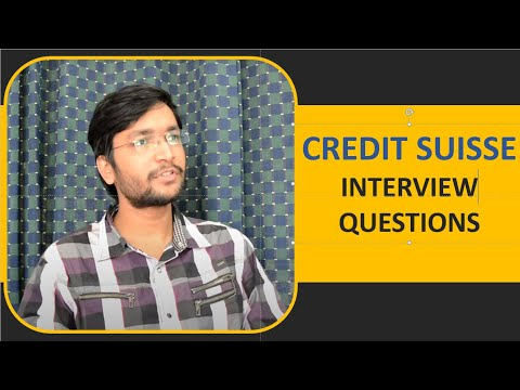 Credit Suisse Interview Questions and Useful Tips