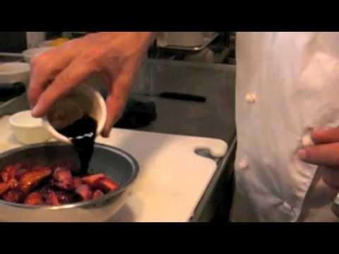 Chef David Paul Macerating Strawberries
