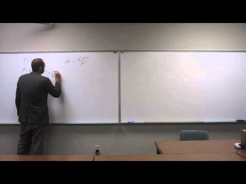 Calculate Molar Mass of a Gas From Density 001