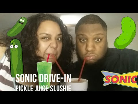 Sonic Drive-In Pickle Juice Slush Review